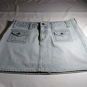 MUDD Jeans Denim Skirt. 9. Light Blue Denim.